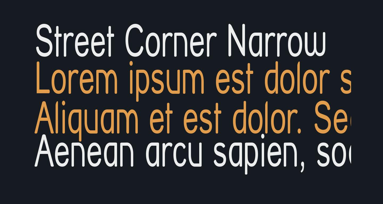 Street Corner Narrow