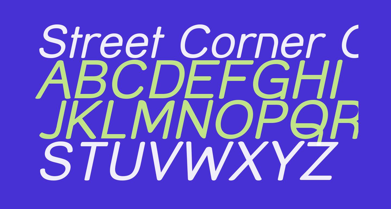 Street Corner Oblique
