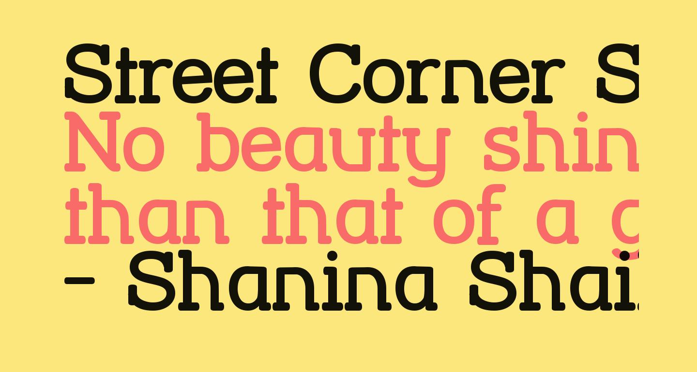 Street Corner Slab Bold