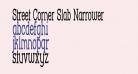 Street Corner Slab Narrower
