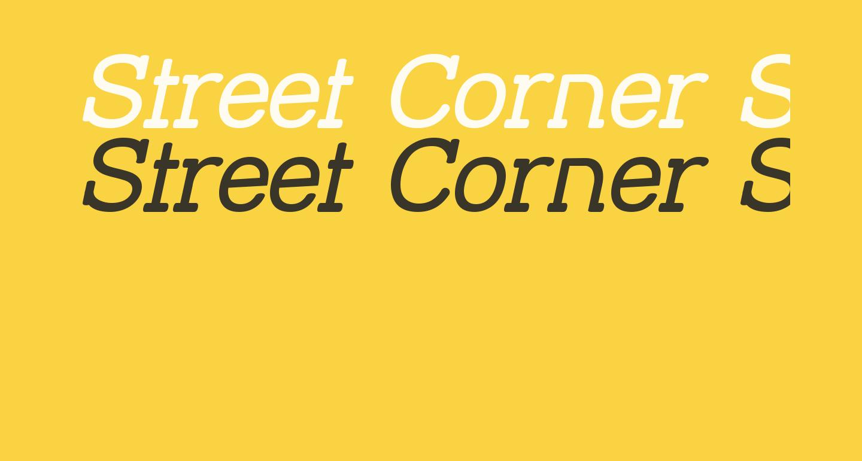 Street Corner Slab Oblique