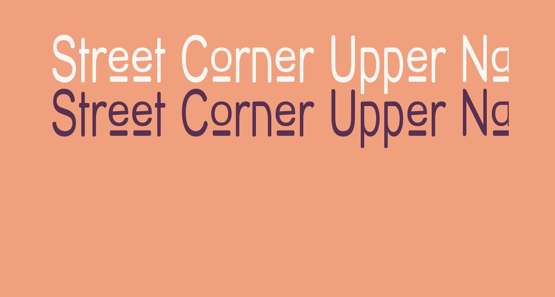 Street Corner Upper Narrow