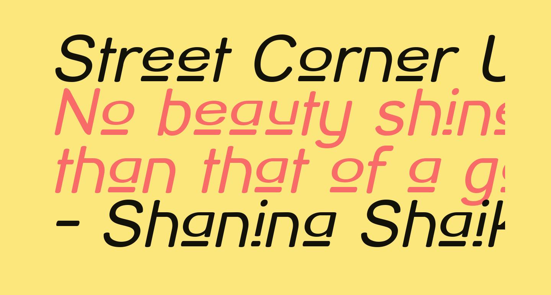 Street Corner Upper Oblique