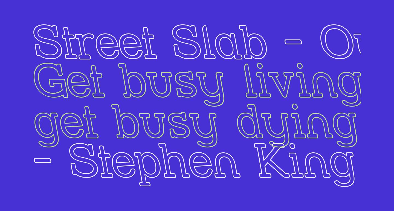 Street Slab - Outline Rev