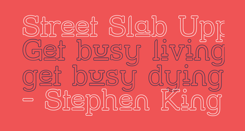 Street Slab Upper - Outline