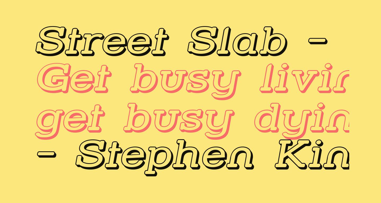 Street Slab - Wide 3D Italic