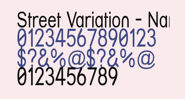 Street Variation - Narrow