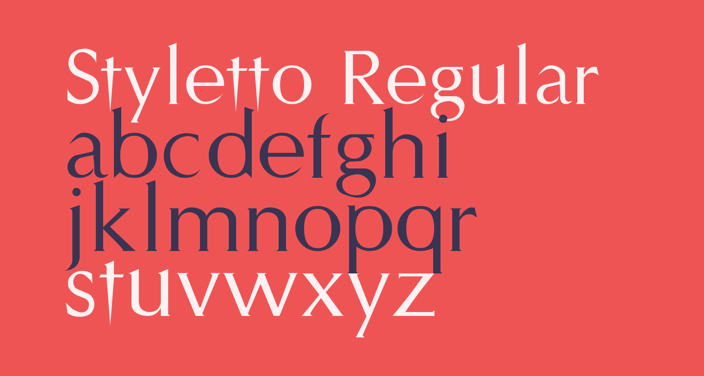 Styletto Regular