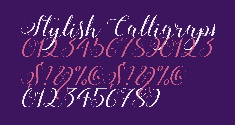 Stylish Calligraphy Demo