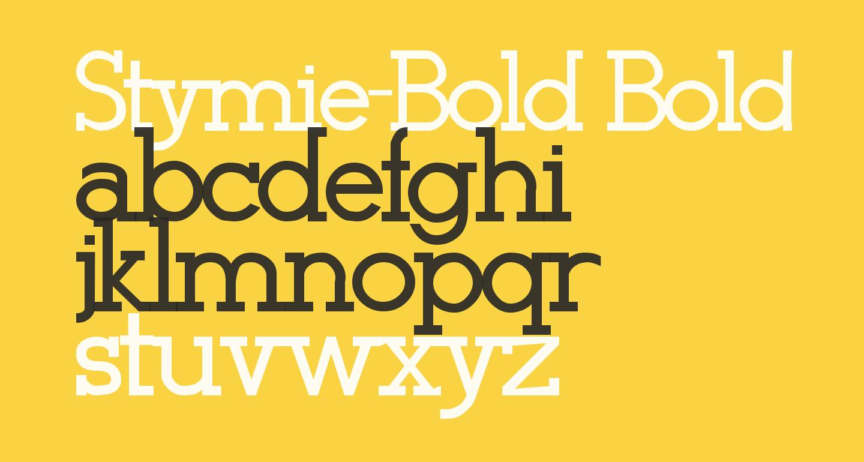 Stymie-Bold Bold