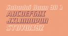 Subadai Baan 3D Italic