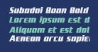 Subadai Baan Bold Italic