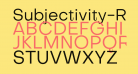 Subjectivity-Regular
