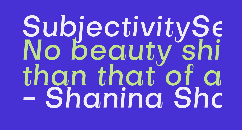 SubjectivitySerif-MediumSlanted