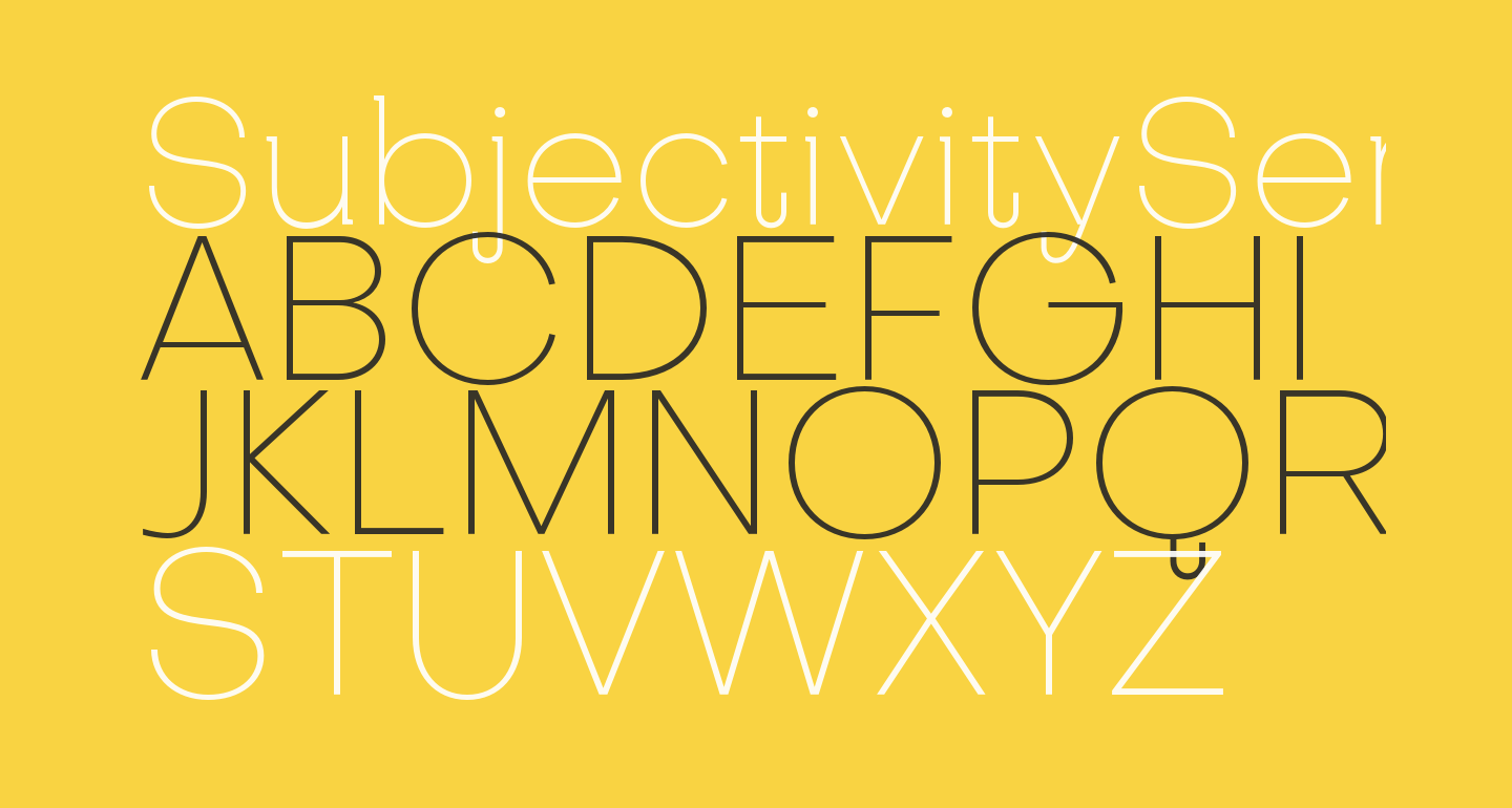 SubjectivitySerif-Thin