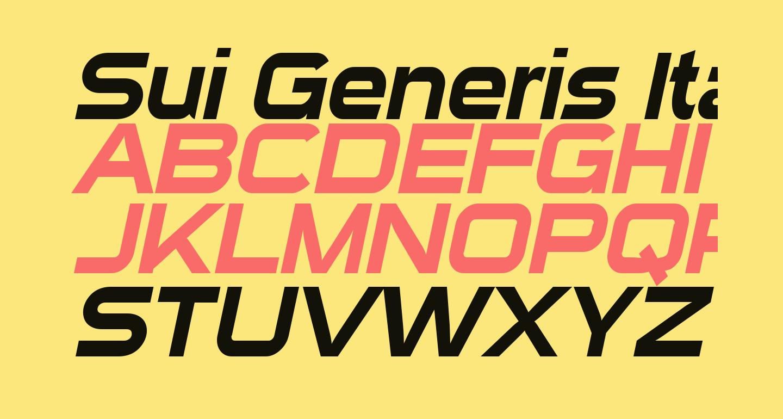 Sui Generis Italic