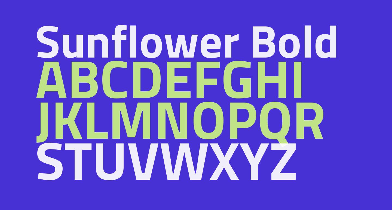 Sunflower Bold