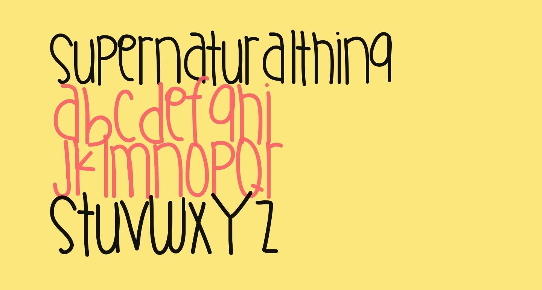 SupernaturalThing