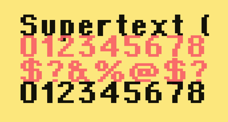 Supertext 02 Bold