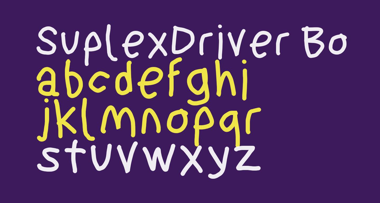 SuplexDriver Bold