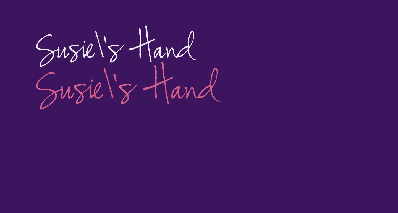 Susie's Hand