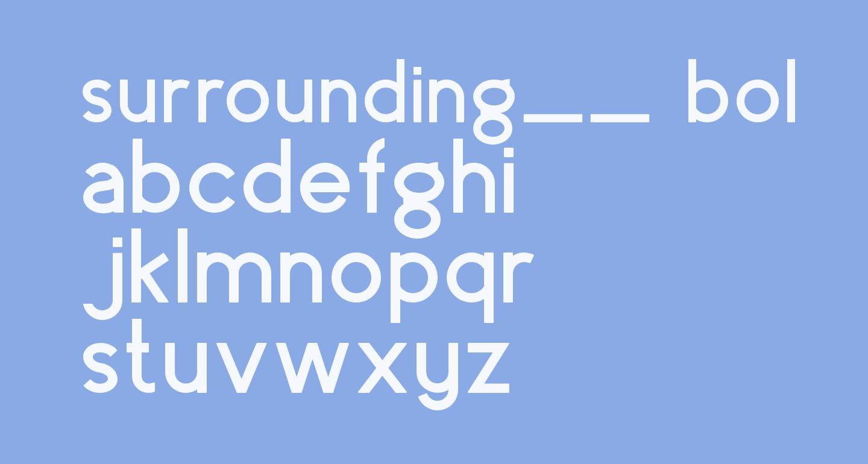 surrounding__ bold