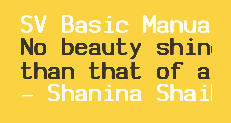 SV Basic Manual Bold