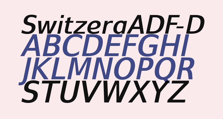 SwitzeraADF-DemiBoldItalic