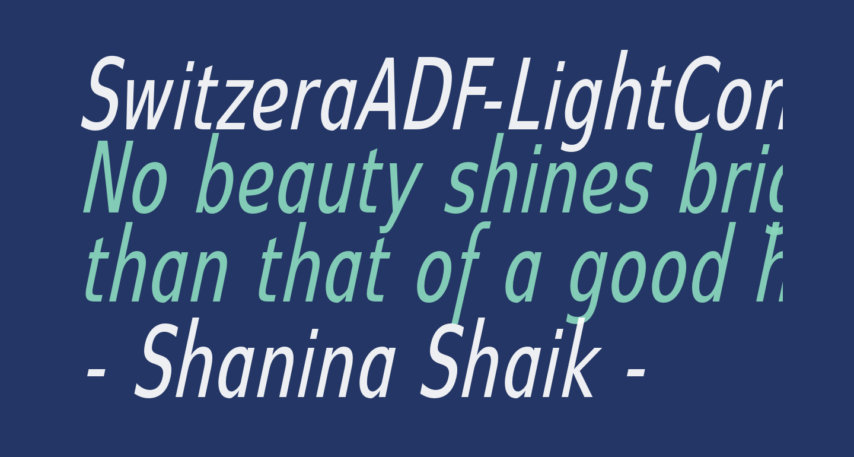 SwitzeraADF-LightCondItalic