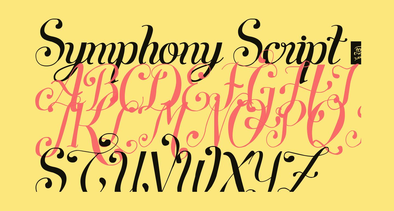 Symphony Script - personal use