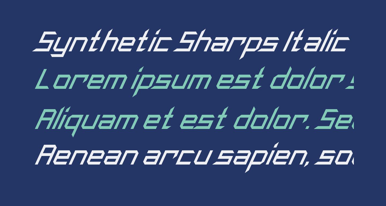 Synthetic Sharps Italic
