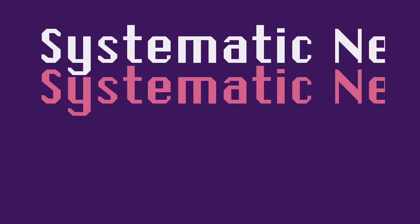Systematic New J
