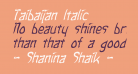 Taibaijan Italic