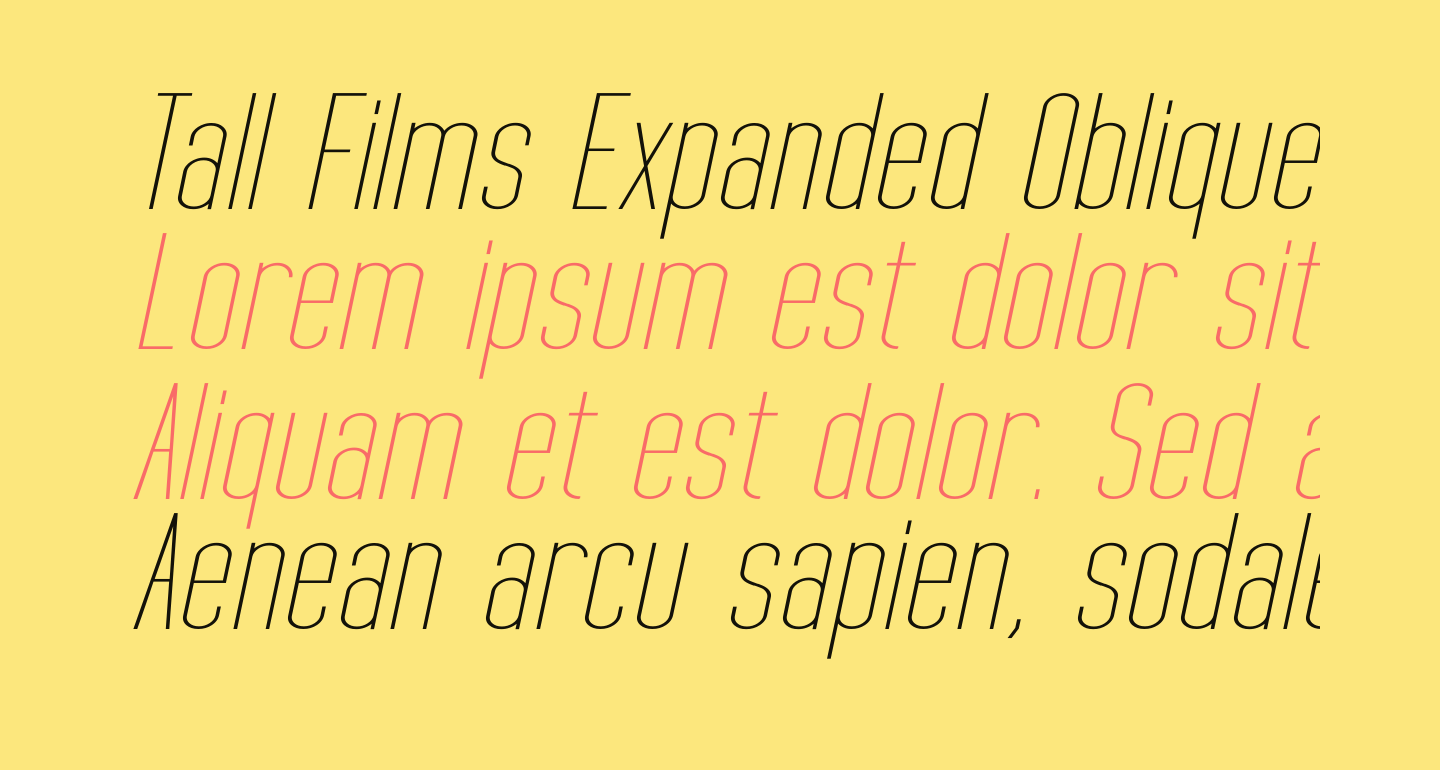 Tall Films Expanded Oblique