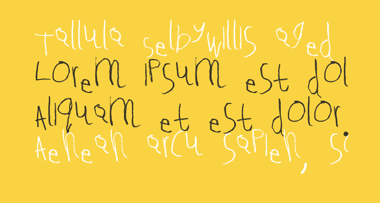 Tallula SelbyWillis aged 4 Medium