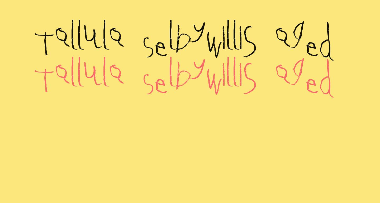 Tallula SelbyWillis aged 4