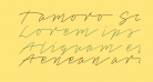 Tamoro Script Personal Use Only