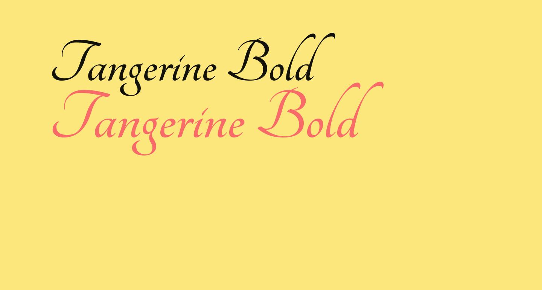 Tangerine Bold