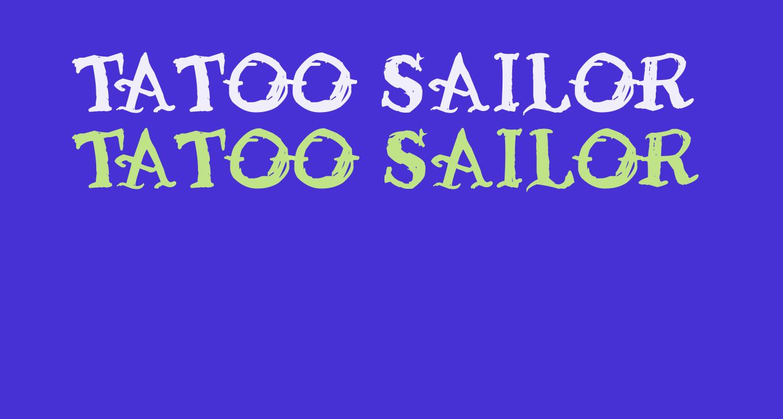 Tatoo Sailor