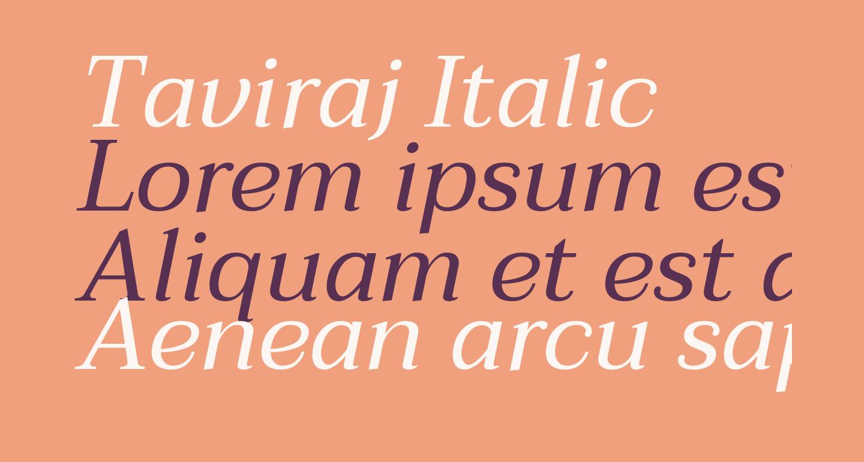 Taviraj Italic