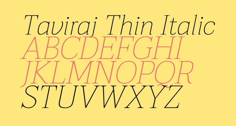 Taviraj Thin Italic
