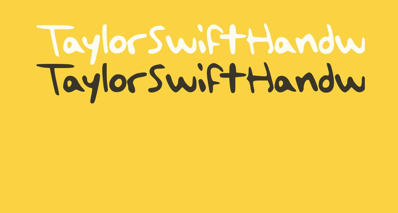 TaylorSwiftHandwriting