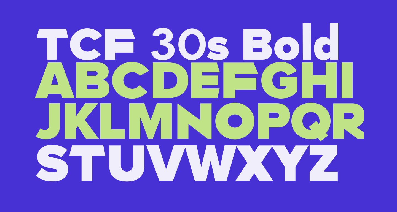 TCF 30s Bold