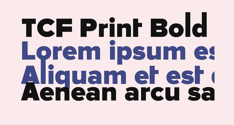 TCF Print Bold