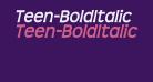 Teen-BoldItalic