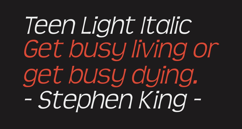 Teen Light Italic