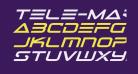 Tele-Marines Bold Expanded Italic