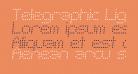 Telegraphic Light Italic