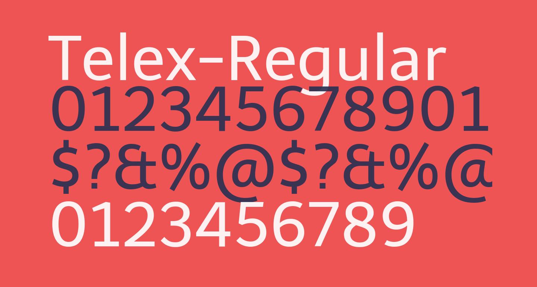 Telex-Regular