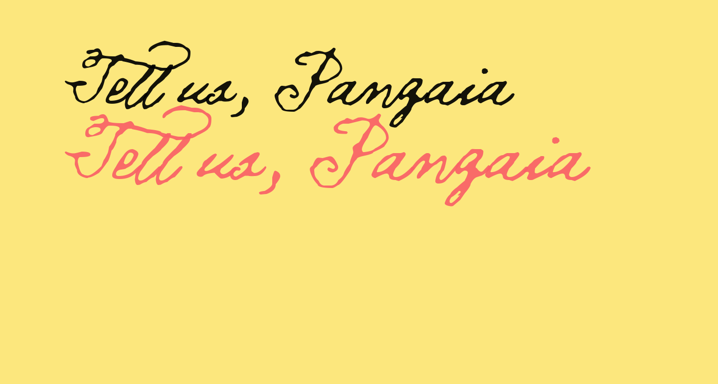 Tell us, Pangaia